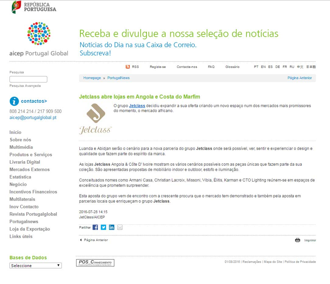 Aicep Portugal Global Jetclassgroup # Muebles Jetclass